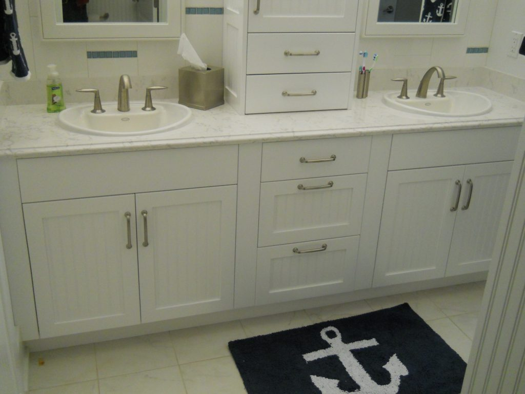beautiful renovated bathroom from Lloyd's Cabinet Shop